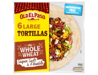Six Large Tortillas Whole Wheat